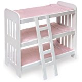 top triple bunk bed for dolls
