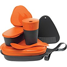 set of dishes for camping