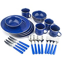 top set of camping dishes