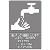 sign to wash hands